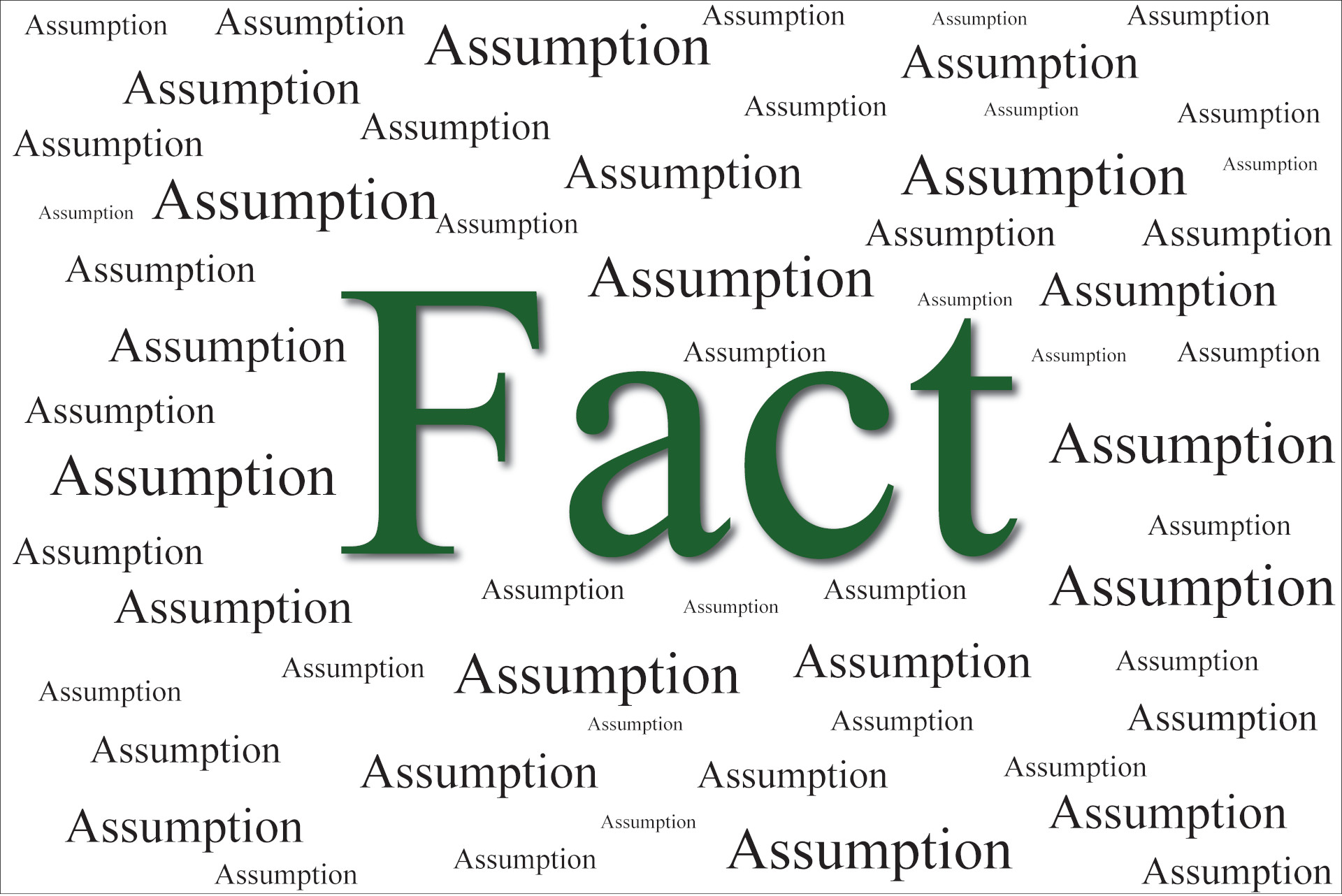 """The Difference Between """"Fact"""" and """"Assumption"""""""